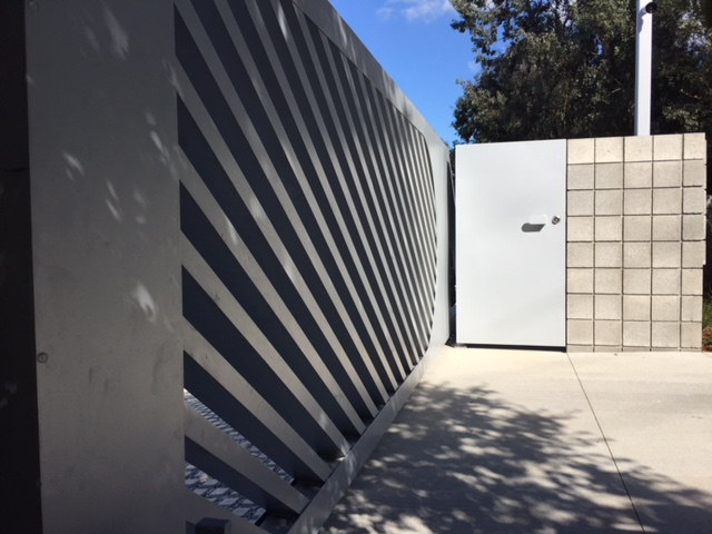 Contemporary Aluminum Auto & Pedestrian Gates