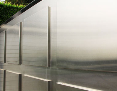 Contemporary Stainless Steel Driveway Gate