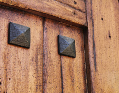 Hammered-Cast-Iron-Accents-Hardwood-Gate