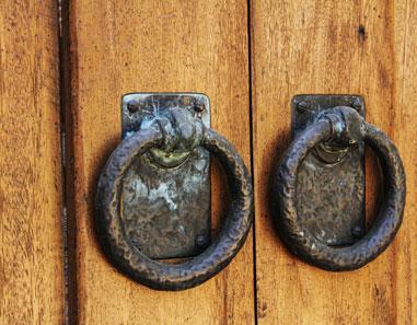 Hammered Cast Iron Door Accents