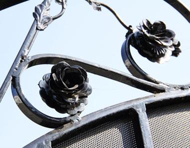 Los Angeles Wrought Iron Gate Handmade Flowers