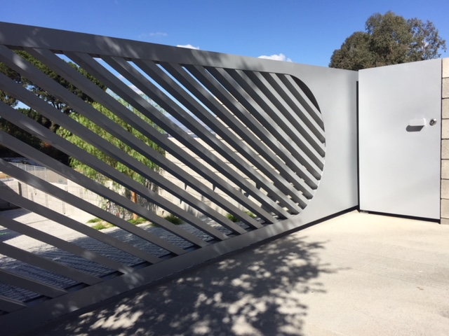 Modern Aluminum Auto & Pedestrian Gates