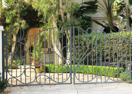 steel bifold auto gate
