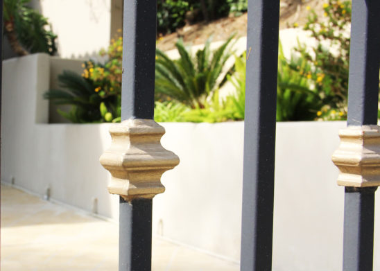 vertical spindle accent pieces