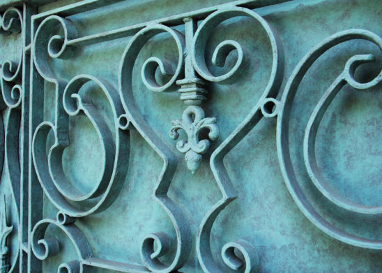 hand forged wrought iron inserts