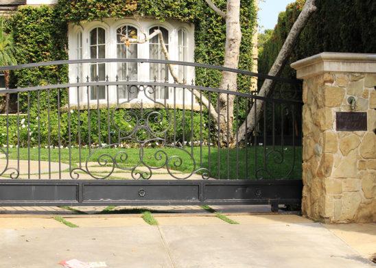 custom traditional wrought iron sliding gate