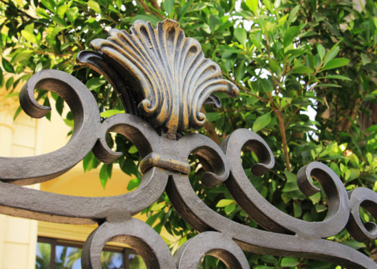 close up of custom finished wrought iron