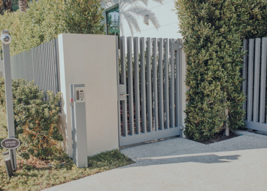 Contemporary-Pedestrian-Gate-Los Angeles Orange County