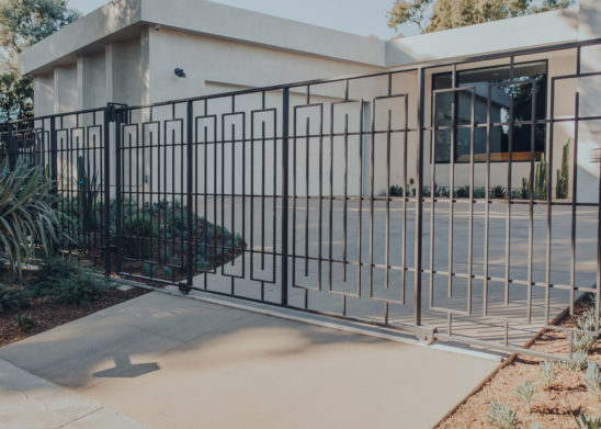 ATTACHMENT DETAILS Contemporary-Steel-Sliding-Gate Los Angeles, Orange County