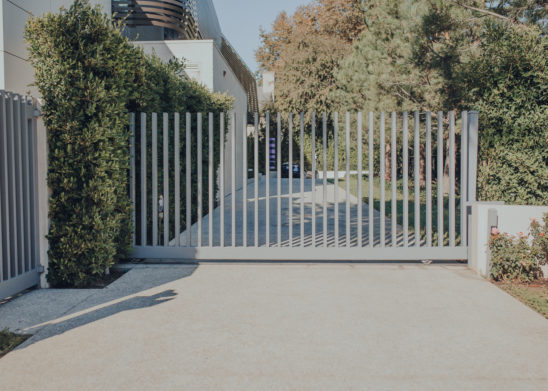 Custom-Contemporary-Electrical-Slide-Gate-Capped-Vertical-Pickets- Los Angeles, Orange County