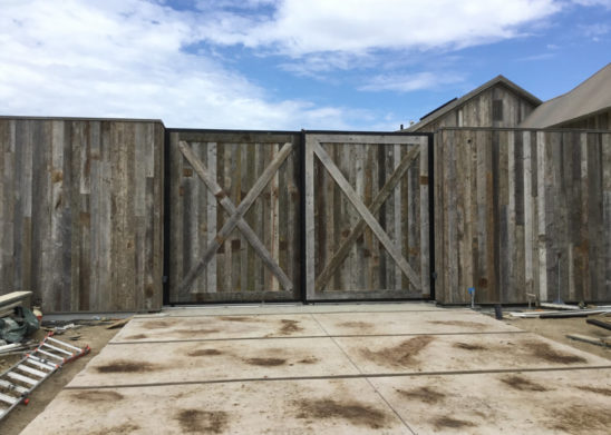 Dual-Sided-True-Reclaimed-Lumber-Tandem-Slide-Gates - Los Angeles, Orange County