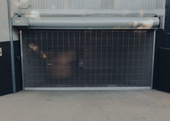 Rolling Overhead Aluminum Grille Commercial Gate Los Angeles Orange County